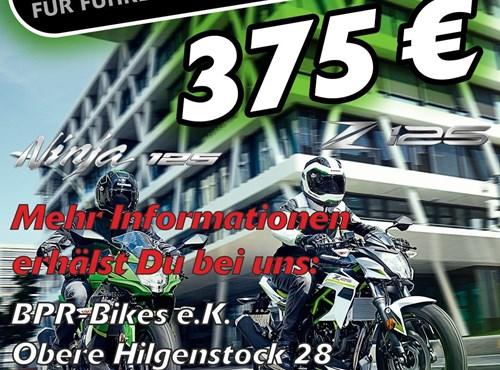 Kawasaki-Starterbonus für die Z125 und Ninja125
