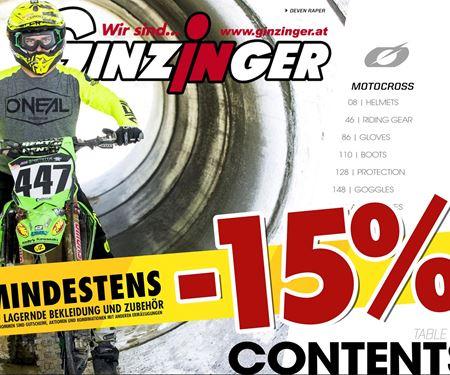 Ginzinger GmbH Innsbruck-News: Augustaktion -15% und mehr