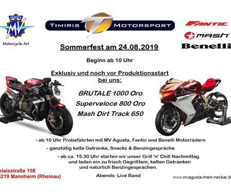 Timiris Motorsport GmbH-News: Sommerfest & drei Weltneuheiten