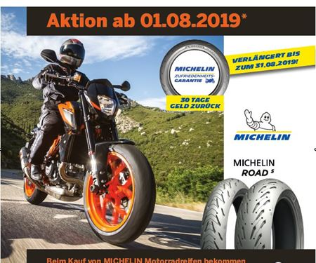 Meister Motorcycle AG-News: MICHELIN AKTION