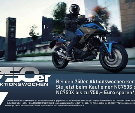 Motorradcenter GmbH Rostock-News: NC750X und NC750S Aktionswochen