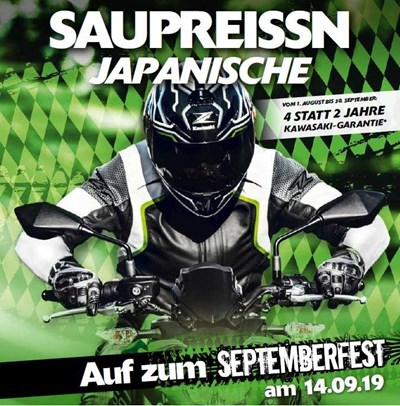 Kawasaki-Septemberfest am Sa. 14. September 2019