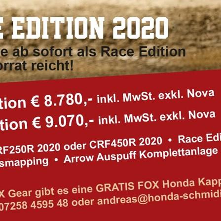 HONDA CRF Race Edition Modelle 2020 bei Honda Schmidinger