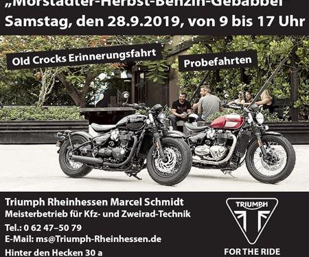 """Kfz- und Zweirad-Technik Marcel Schmidt-News: """"Mörstädter-Herbst-Benzin-Gebabbel"""" am Samstag, den 28.09. von 9 bis 17 Uhr"""