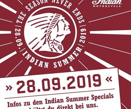 sk-bikes GmbH-News: INDIAN Summer Samstag 28.09.2019