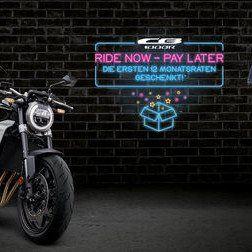 Honda - Helmut Müller-News: Ride Now Pay Later - Die ersten 12 Monatsraten geschenkt!*
