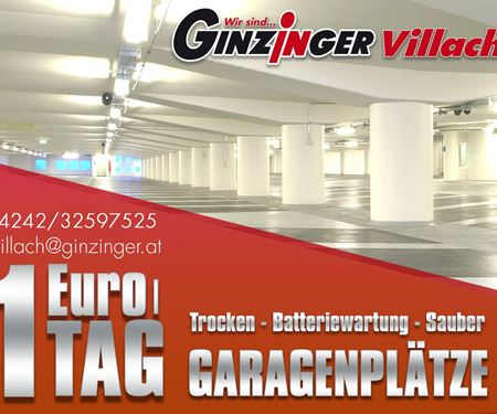 Ginzinger GmbH Villach-News: Garagtenplatz in Villach ab 1.- Euro/Tag : Ginzinger Zweirad
