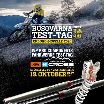 Husqvarna 2020 / WP Pro Components Testtag  Unser alljährlicher Testtag findet heuer am KTM E-Cross Center Gelände in Kirchberg statt.  Als Highlight könnt ihr Zwei Endur... Weiter >>