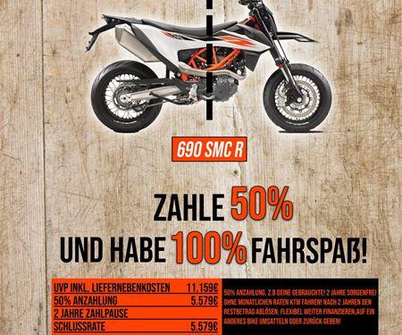 Biker`s Point Fuchs GmbH & Co. KG-News: Zahle 50% und habe 100% Fahrspaß