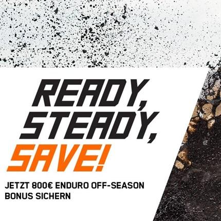 Jetzt 800€ ENDURO Off-Season Bonus sichern!    Investiere deinen Bonus entweder in KTM PowerParts um deiner Neuen einen noch extremeren Look... Weiter >>