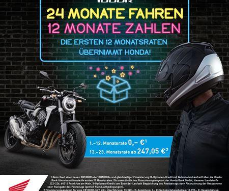 Motorradtechnik Lang GmbH-News:  24 Monate fahren - 12 Monate zahlen - CB1000R
