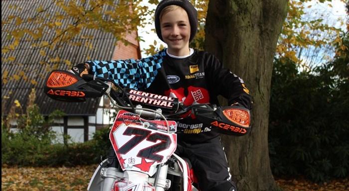 Loris Wobker - Norddeutscher Meister im Motocross bis 65 Kubik