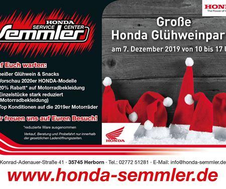 Honda Semmler GbR-News: Honda Semmler - Glühweinparty Aktion