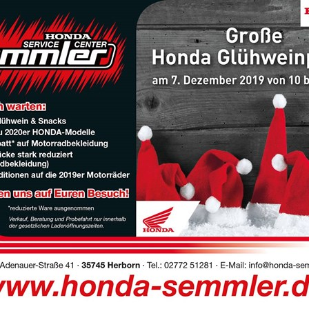 Honda Semmler - Glühweinparty Aktion