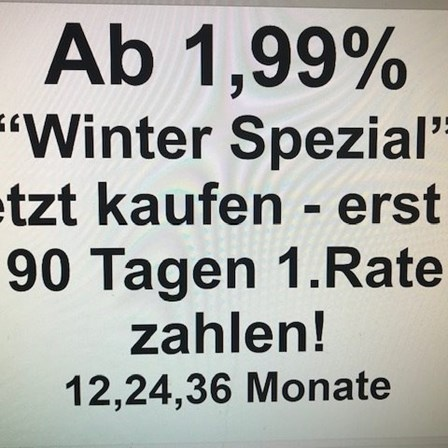 Winter  Spezial Finanzierung