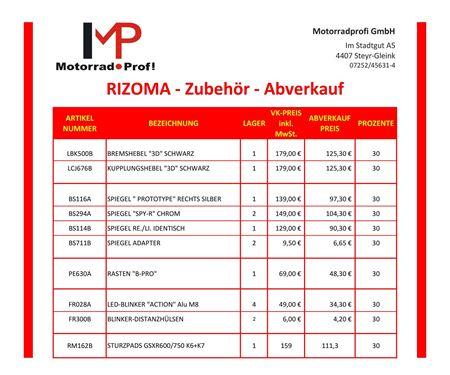 Motorradprofi GmbH-News: RIZOMA ABVERKAUF