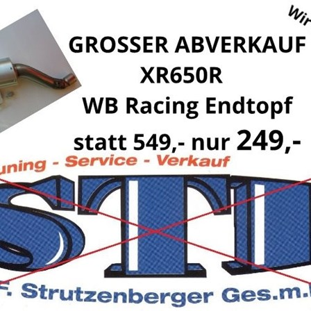 XR650R WHITE BROTHER RACING ENDTOPF - ABVERKAUF