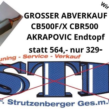 CB500F/X CBR500 AKRAPOVIC ENDTOPF - ABVERKAUF