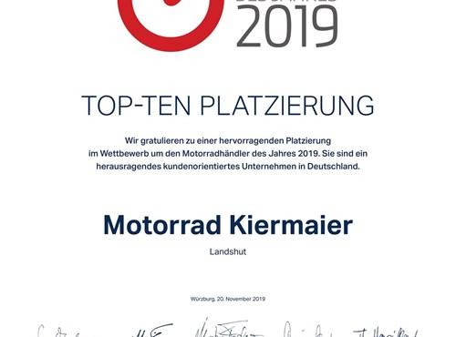 """""""Motorradhändler des Jahres 2019"""""""