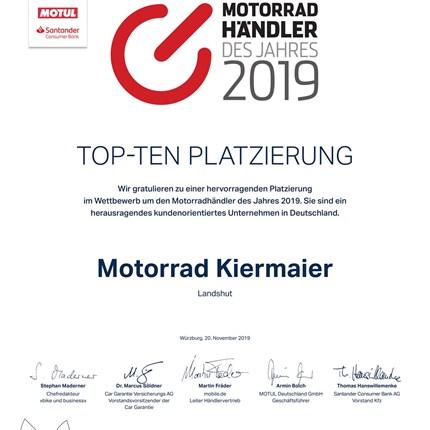 """""""Motorradhändler des Jahres 2019""""  Motorradhändler des Jahres 2019  Ende November 2019 wurden wir von der Fachzeitschrift bike&bus... Weiter >>"""