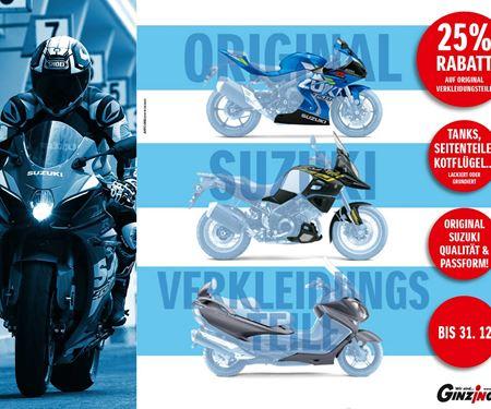 Ginzinger GmbH Salzburg-News: Suzuki Verkleidungsteileaktion!