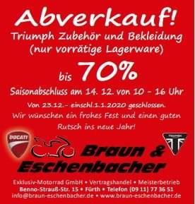 """>>> Aktion:...""""Abverkauf von TRIUMPH Zubehör, Bekleidung....<<< TOPNEWS"""