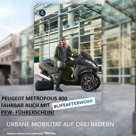 PEUGEOT METROPOLIS!!! Mit Autoführerschein fahrbar!