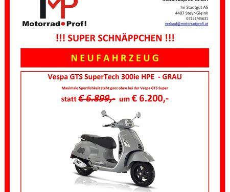 Motorradprofi GmbH-News: VESPA GTS SuperTech 300ie HPE SCHNÄPPCHEN