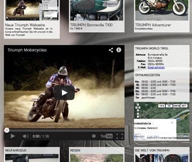 Neue Triumph Webseite
