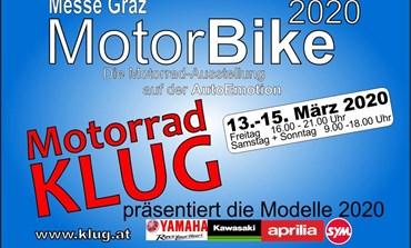 Motorrad KLUG auf der MotorBike 2020