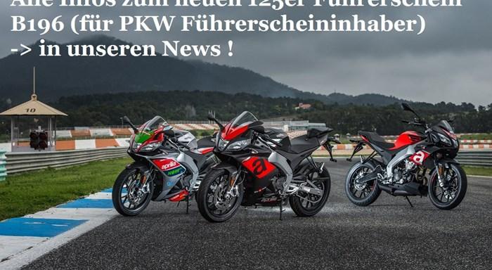 Neue 125er Fahrerlaubnis B196 für PKW-Führerscheininhaber