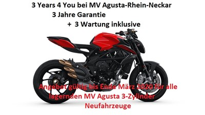3 Years 4 You mit MV Agusta Rhein Neckar!