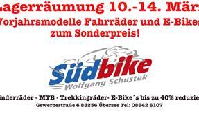 Wir räumen unser Fahrrad- und E-Bike-Lager anzeigen