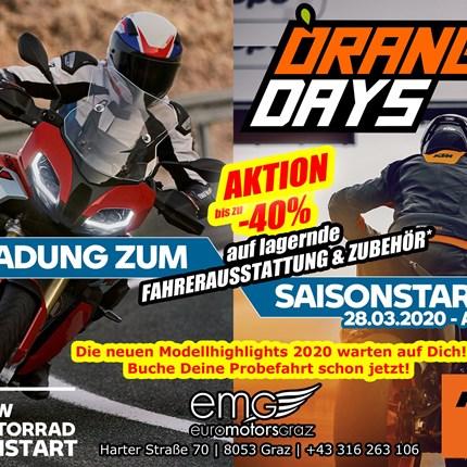 Saisonstart - 28.03.2020  Motorrad Saisonstart @ EMG - 28.03.2020 Wir starten mit Euch gemeinsam am 28.03.2020 ab 9 Uhr in... Weiter >>