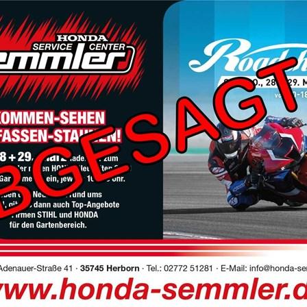 Honda Semmler - ABGESAGT ROAD SHOW & GARTENMESSE