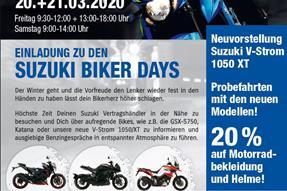 Suzuki Biker Days 2020 am 20. und 21. März anzeigen