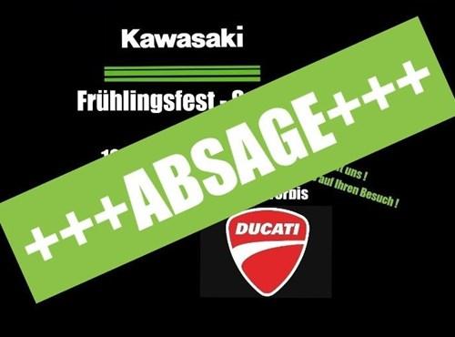 NEWS ABSAGE Frühlingsfest/Saisonauftakt