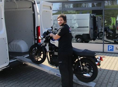 Hol- und Bring-Service beim Zweirad-Center Nuber