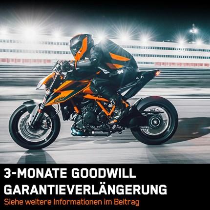 KTM GOODWILL GARANTIEVERLÄNGERUNG  GOOD NEWS -DREI MONATE EXTRA FÜR DEINE KTM! Als Zeichen der Unterstützung in dieser außergewöhnlichen Zeit verlängert KTM die ... Weiter >>
