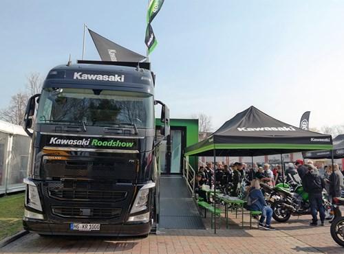 NEWS Kawasaki Roadshow bei MSK zu Gast