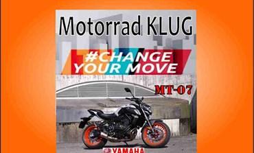MT-07 in Aktion bei Motorrad KLUG