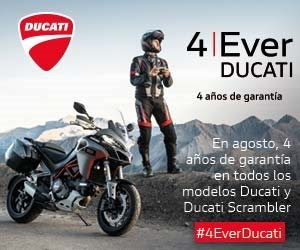 4Ever Ducati. En agosto, 4 años de garantía en todas las Ducati y Ducati Scrambler!