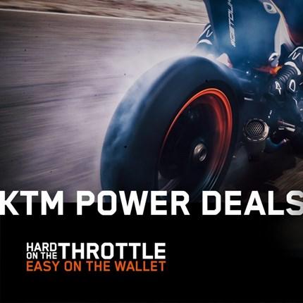 KTM Power Deals 2020  SPARE JETZT RICHTIG MIT DEN KTM POWER DEALS  Hard on the throttle - Easy on the wallet! Das bedeutet jetzt richtig Gas geben u... Weiter >>