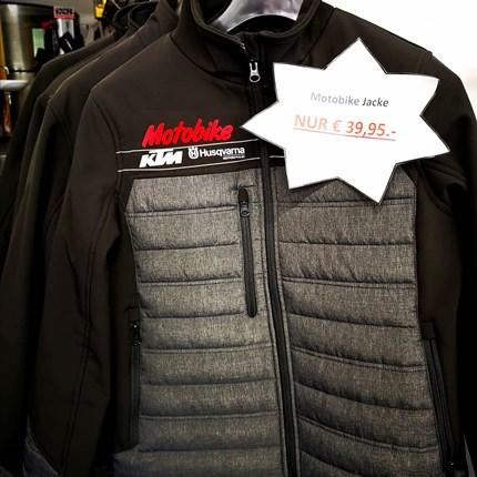 Ihr wollt zum Motobike Team gehören?   Ihr wollt zum Motobike Team gehören?  Dann sichert euch schnell eine schöne Motobike Jacke mit HQV & KTM Logo!! Passenden Dam... Weiter >>
