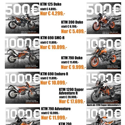 KTM Power Deals bis zum 31.10.2020  KTM Power Deals bis zum 31.10.2020