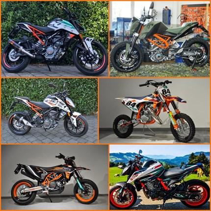 Pimp my Motobike !! Individuelle Umbauten bei uns möglich !! KTM & Husky  Pimp my Motobike !! Individuelle Umbauten bei uns möglich !!  Ihr wollt aus eurer KTM oderHusqvarna ein Einzelstück machen? ... Weiter >>
