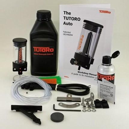 TUTORO Auto TREK Kit Kettenöler  Ein TUTORO Kettenöler schaltet sich ein wenn Du fährst ...... und schaltet sich aus, wenn Du stehen bleibst. Keine Kabel- sprich ... Weiter >>