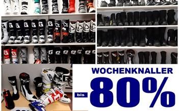 WOCHENKRACHER  WOCHENKRACHER: bis -80% auf alle lagernden Stiefel und Schuhe  gültig ab sofort bis Halloween