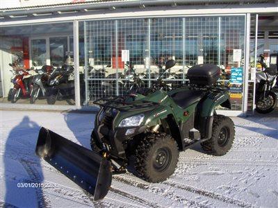 Außergewöhnlich 4*4 Quad- Winteraktion mit Schneeschild für Winterdienst! #QE_53