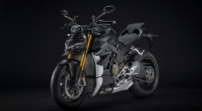 "Die neue Ducati Streetfighter V4 S in ""Dark Stealth"", 2021"
